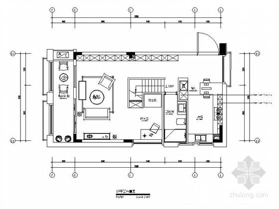 [青岛]LOFT户型装修施工图