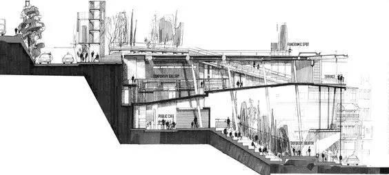那些霸气的建筑剖面图_14