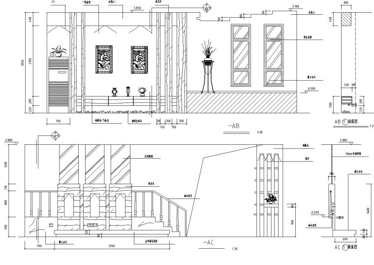[河北]纳帕溪谷别墅室内装修施工图及实景图