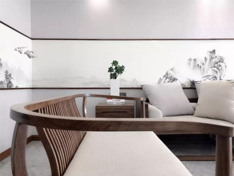 新中式徽派元素山水画为轴线的家装设计_8