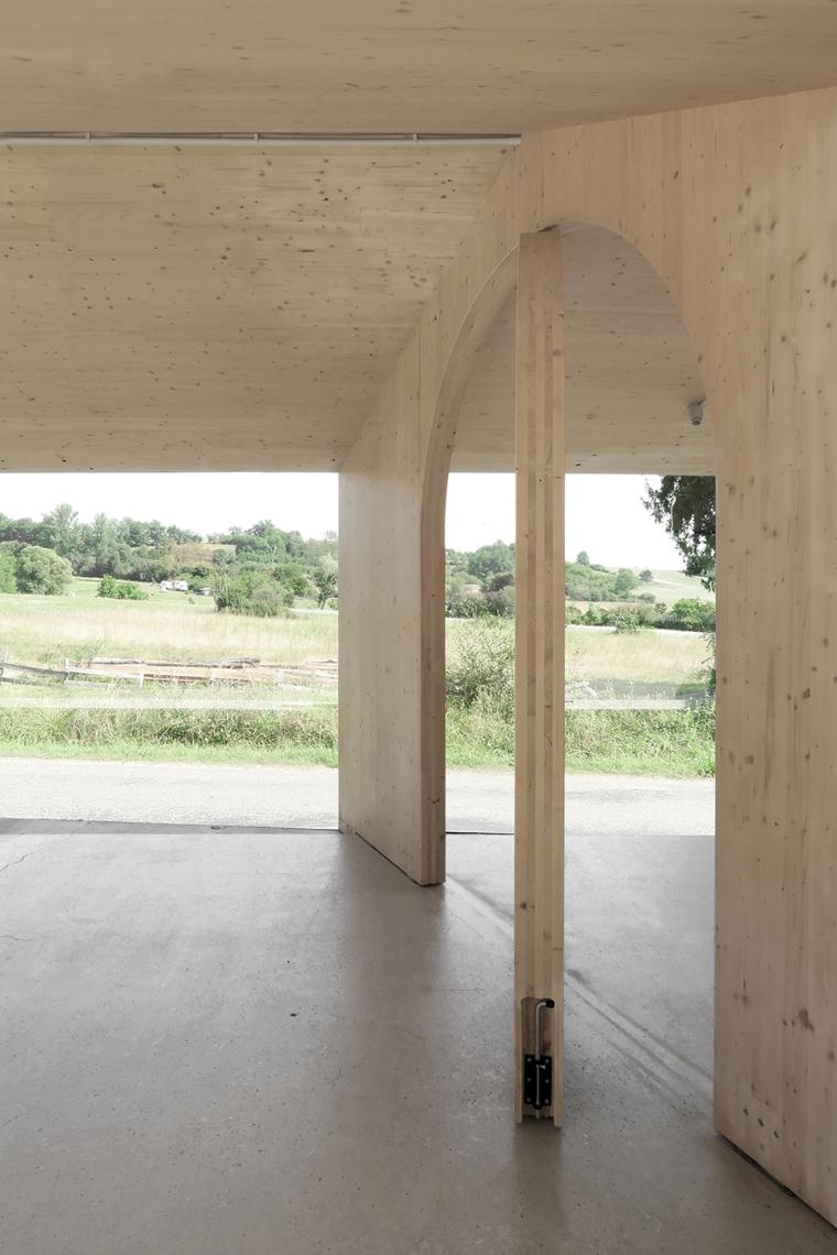 法国简洁木结构的学校食堂扩建-13