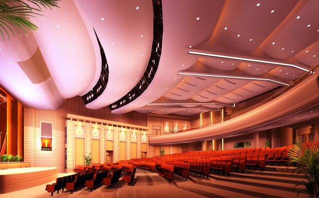 观众厅角度三_副本-钢花影剧院设计方案第5张图片