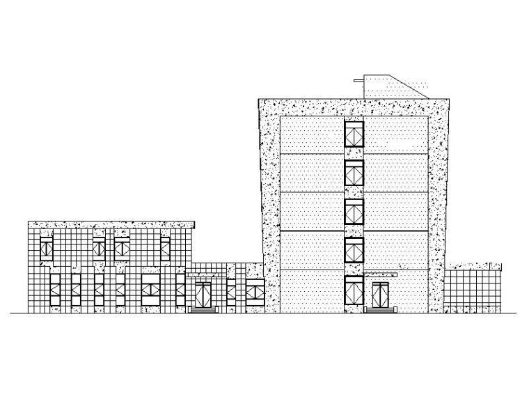[福建]现代风格多功能职工宿舍建筑施工图