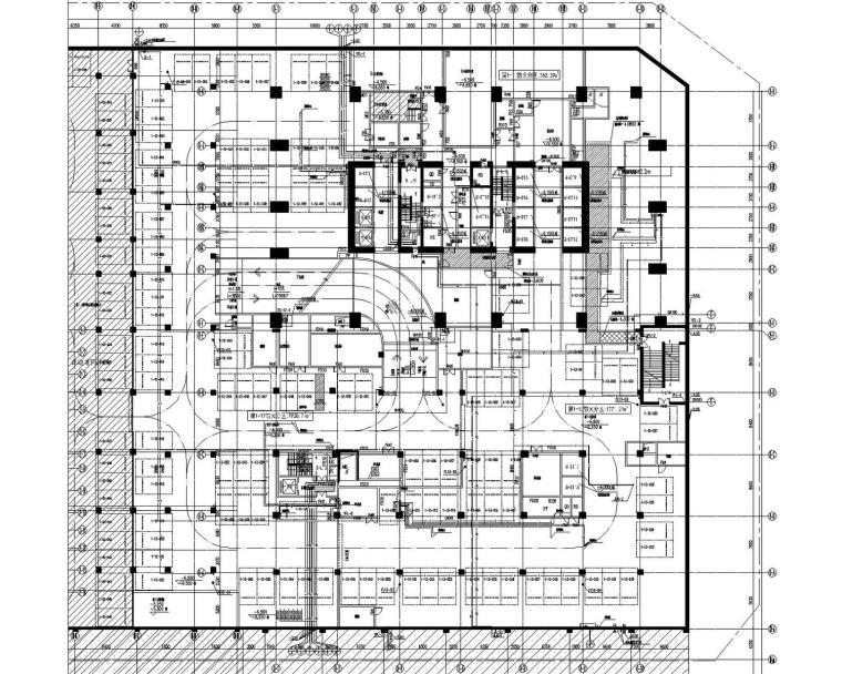 [深圳]178米2栋超高层研发中心泵房地下室给排水消防施工图160张