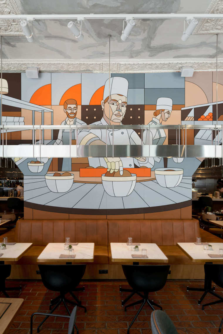 苏维埃时代现代主义酒馆-Mural