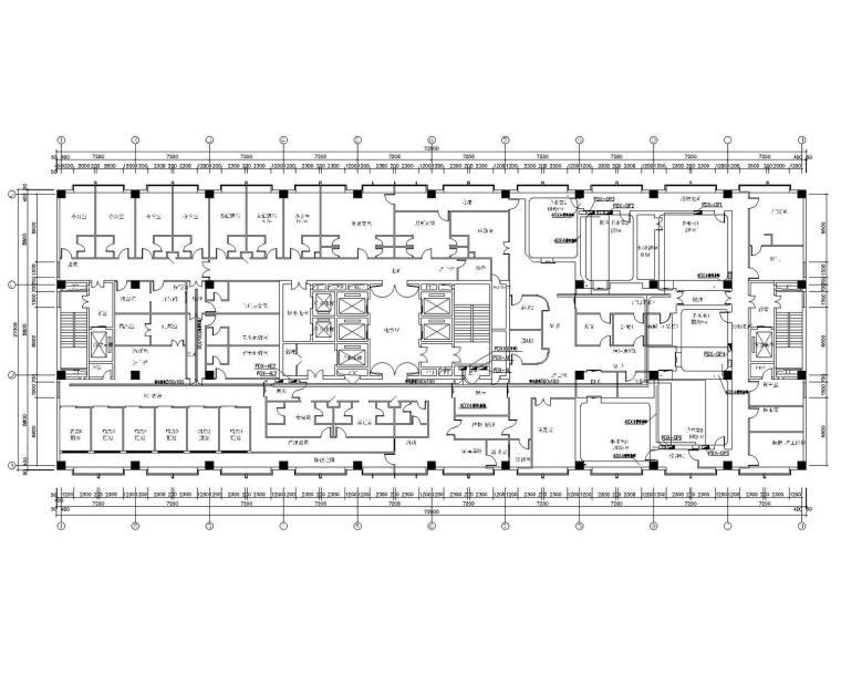 [北京]南苑医院十层手术室、ICU病房净化装饰工程电气施工图