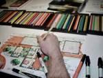 100个室内设计师,就有100种手绘平面图