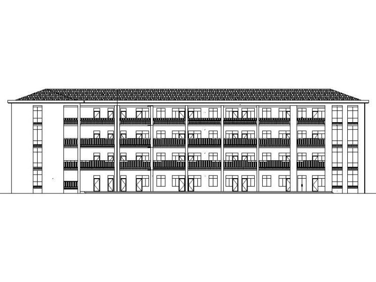 [宁夏]现代风格坡屋顶小学建筑施工图