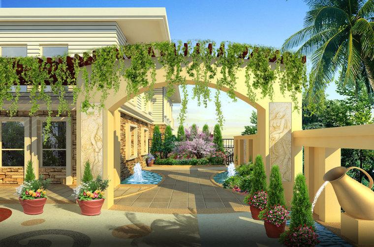 重庆冠领园林私家花园庭院设计:保利花园_2
