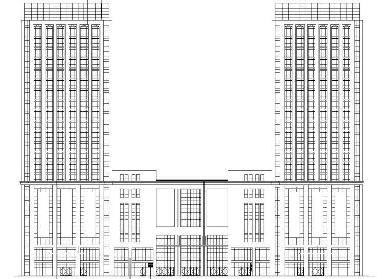[北京]高层剪力墙结构物流办公中心建筑施工图(含全专业)