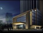 酒店建筑夜景3D模型下载