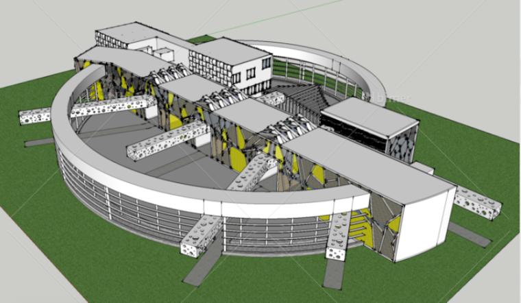 幼儿园概念方案SketchUp模型