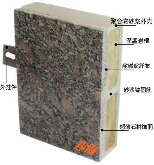 皇室棕超薄石材外墙装饰一体化板