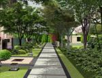 [江苏]新亚洲风格生态院落住宅展示区景观设计方案