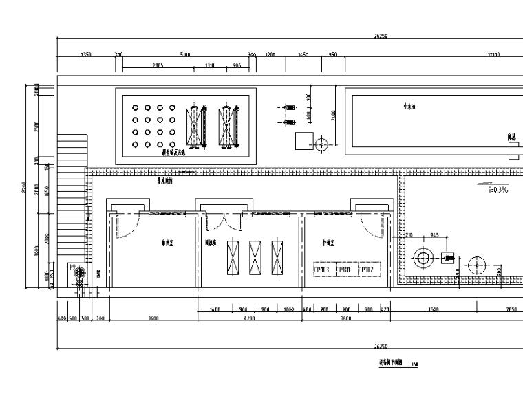中水处理系统施工图纸(CAD)