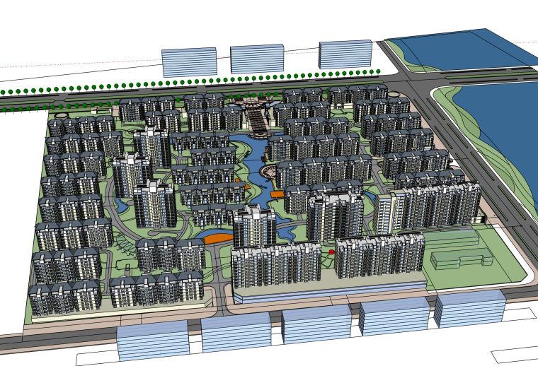 [山东]某高层小区住宅多层平面立面总图