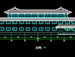 3层传统中式风格洗浴中心全套建筑图