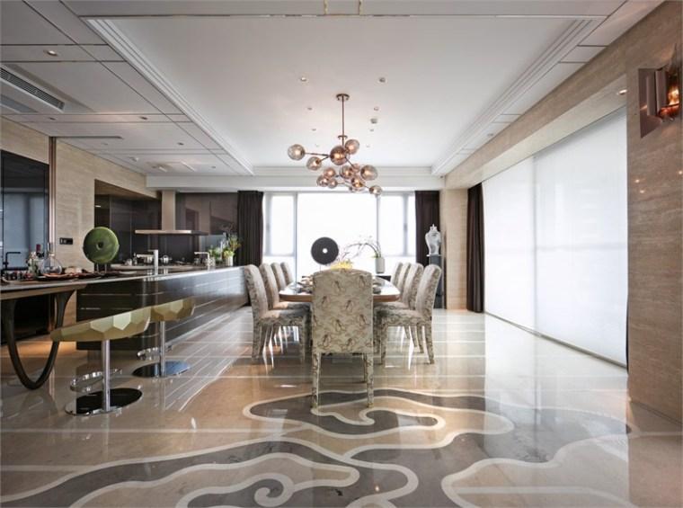 [深圳]邱德光|前海壹方中心现代中式风格住宅设计施工图+物料书+效果图_18