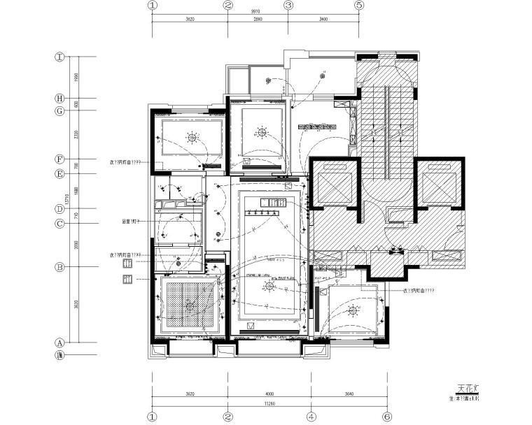 [北京]万科翡翠长安现代中式轻奢样板间设计方案+CAD全套施工图+物料书+效果图_8