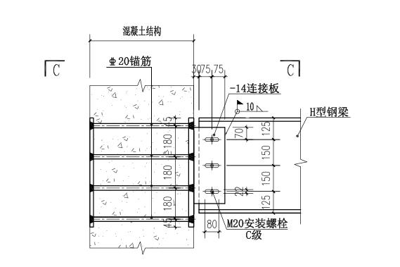 64层框架核心筒结构超高层大厦结构施工图(CAD、70张)_1