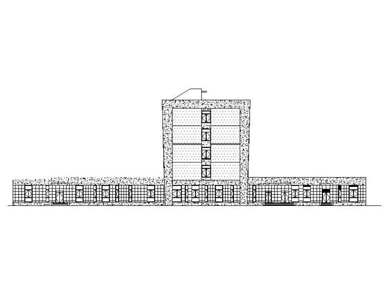 [福建]现代风格厂区食堂及招待所建筑施工图