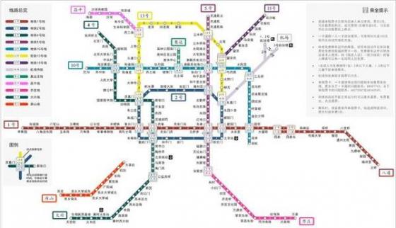 北京地铁线路图  3、广州:260.5公里4、南京:225.4公里5、香港:图片