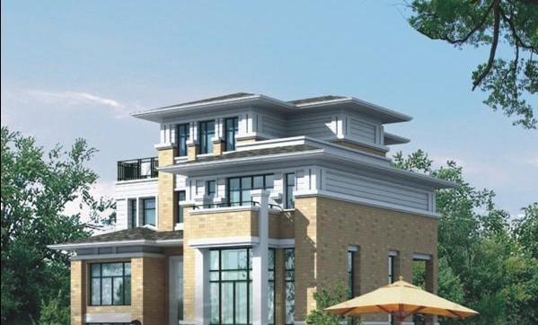 三层别墅建筑方案(包含效果图)