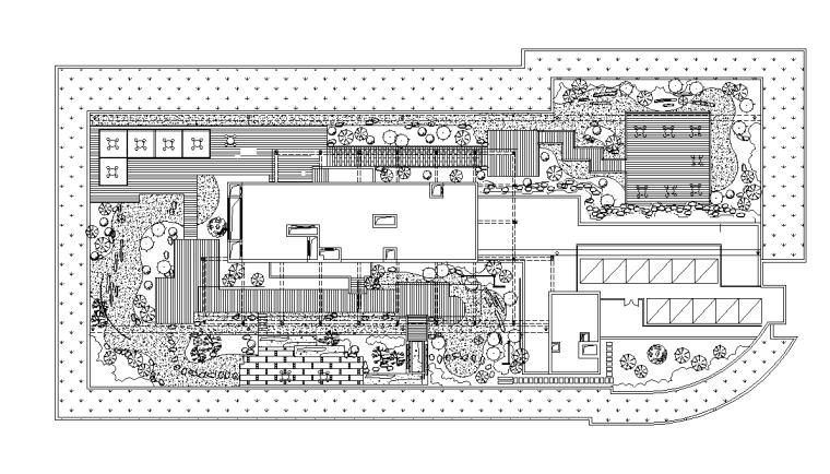 [分享]屋顶花园景观cad施工图资料下载图片