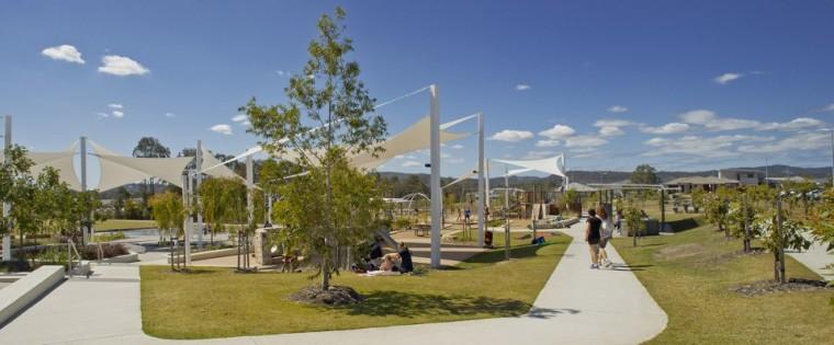 膜结构景观小品,营造亲切的社区娱乐空间