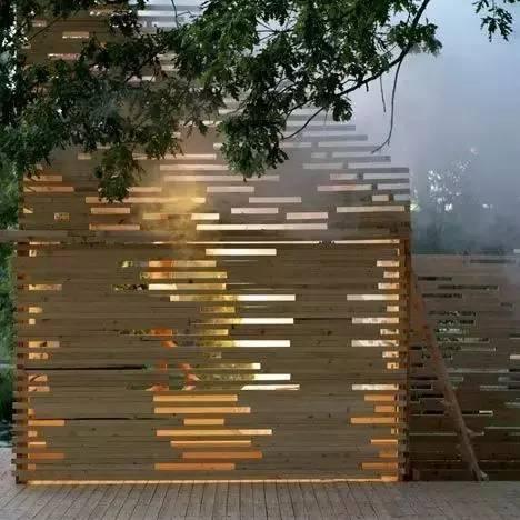 这样美的有气质的木质景墙还不用到你的设计中去!!