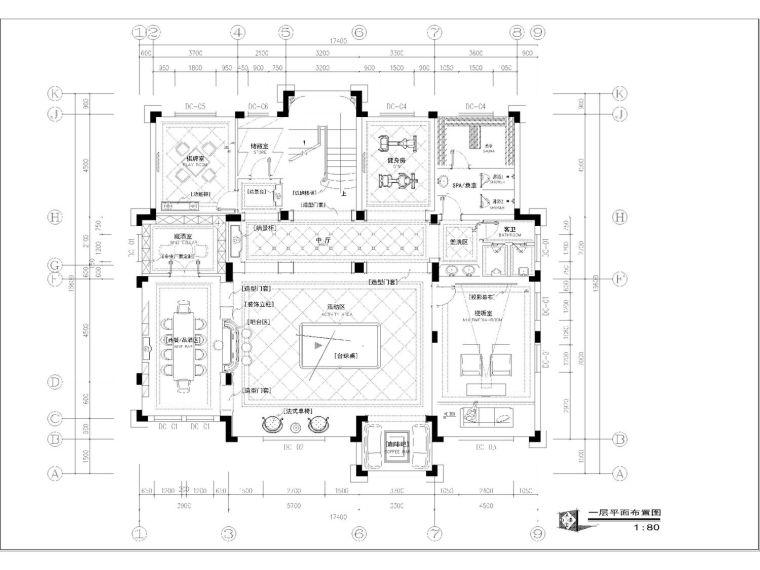 详细完整的欧式高端别墅设计施工图