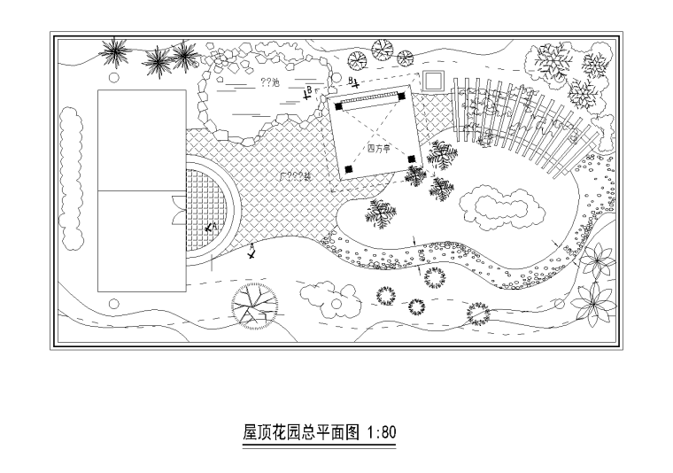 21套屋顶花园CAD施工图(17)