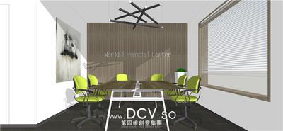 西安现代办公室内装修设计-曲江龙湖紫都城_5