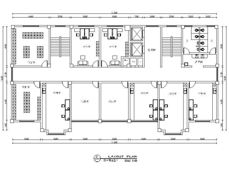 [怀化]一套五层的政府办公楼设计施工图