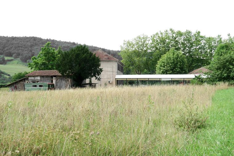 法国简洁木结构的学校食堂扩建-2