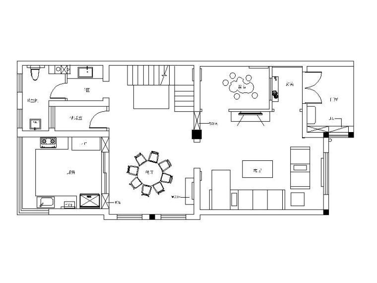 中式风格别墅住宅设计CAD施工图(含效果图)