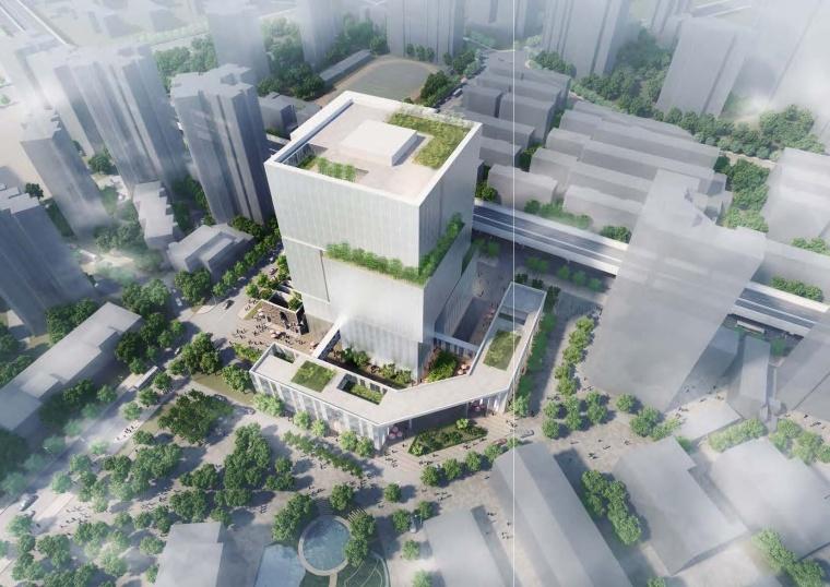 [上海]世博园概念办公楼方案设计(国际知名事务所)