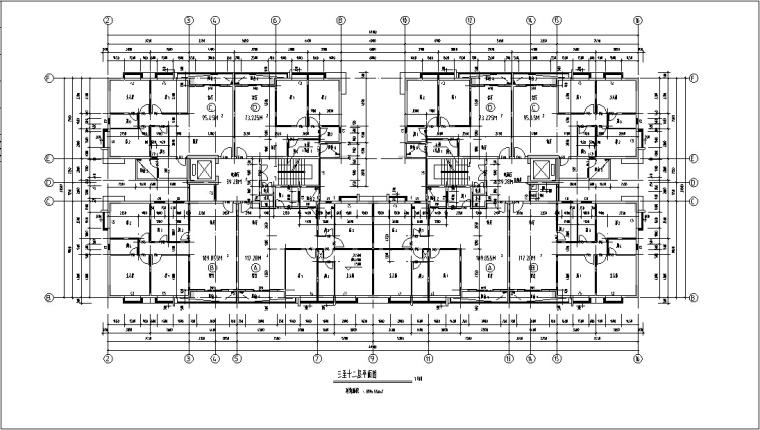 现代高层商住楼建筑设计方案初设图CAD-8