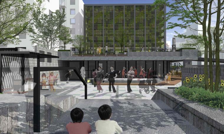 社区改造下沉广场景观方案设计文本(SU模型)_8