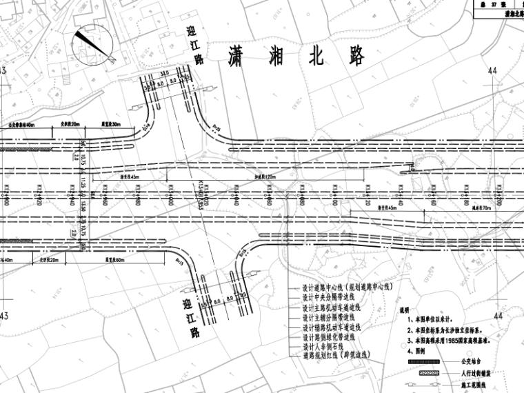 道路平面设计图图片