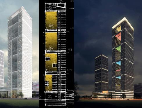 合肥滨湖时代广场巨型框架与框筒双重结构体系设计论文