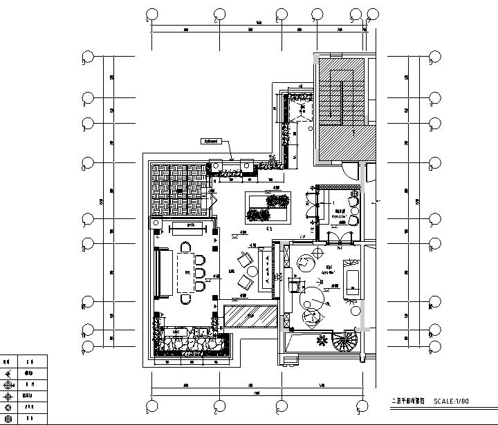 [辽宁]蓝白基调浪漫住宅空间设计施工图(附效果图)_4