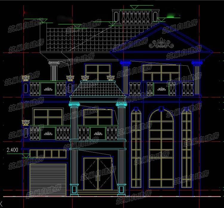 13x11三层农村独栋别墅设计图-1.3
