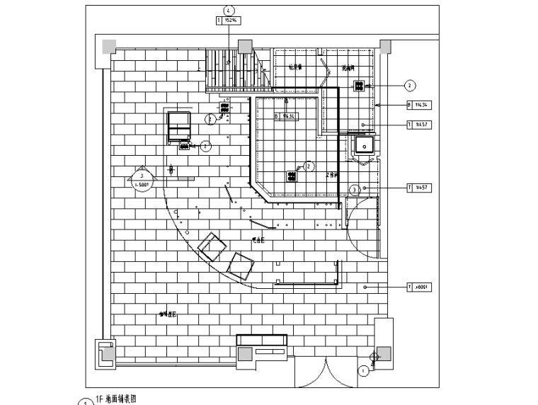 [杭州]星巴克-萧山新华书店店CAD施工图+三维图