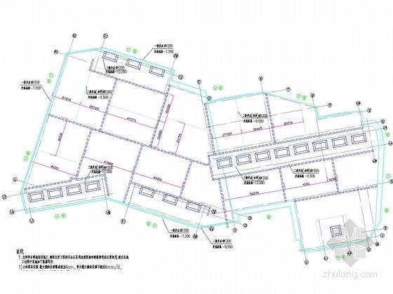 深基坑土钉墙支护及井点降水施工图