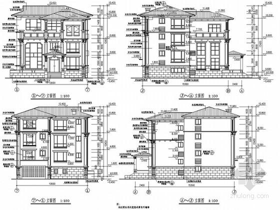 [江西]四层异形柱框架结构别墅结构施工图(600平 含建筑图)