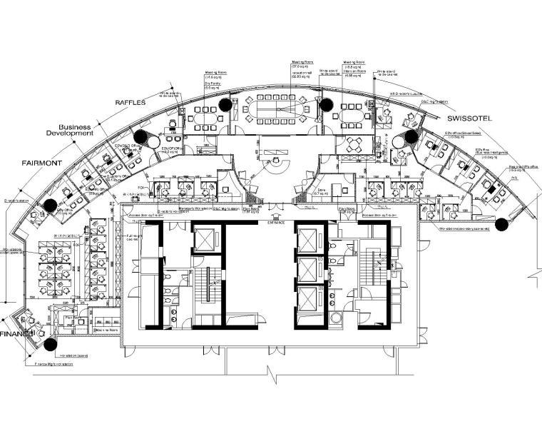 现代风格办公空间装修设计施工图+效果图