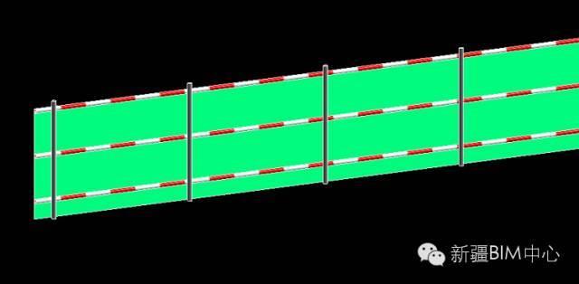 Revit中如何创建红白渐变钢管材质