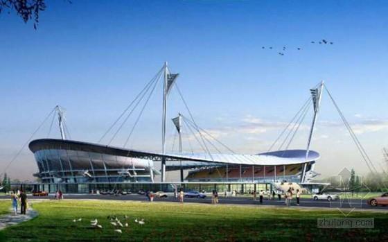 [山东]体育场钢结构工程转动支座斜桅杆施工技术汇报(79页 80米安装高度)