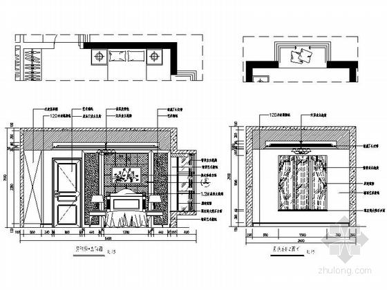 [深圳]195平经典豪华欧式五居室样板间装修设计施工图男孩房立面图